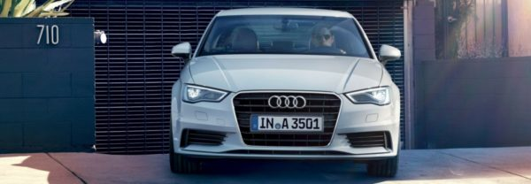 A white Audi A3 featured in a blog about Audi lease deals
