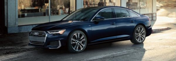 2020 audi a6 parked in the city
